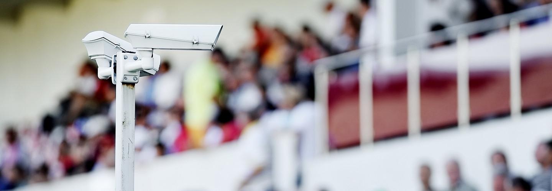 Surveillance camera at a stadium