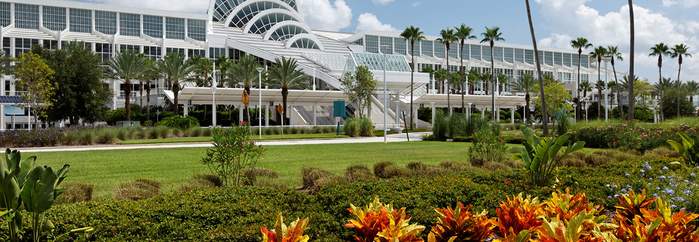 The Orange County Convention Center, located in Orlando, Florida.
