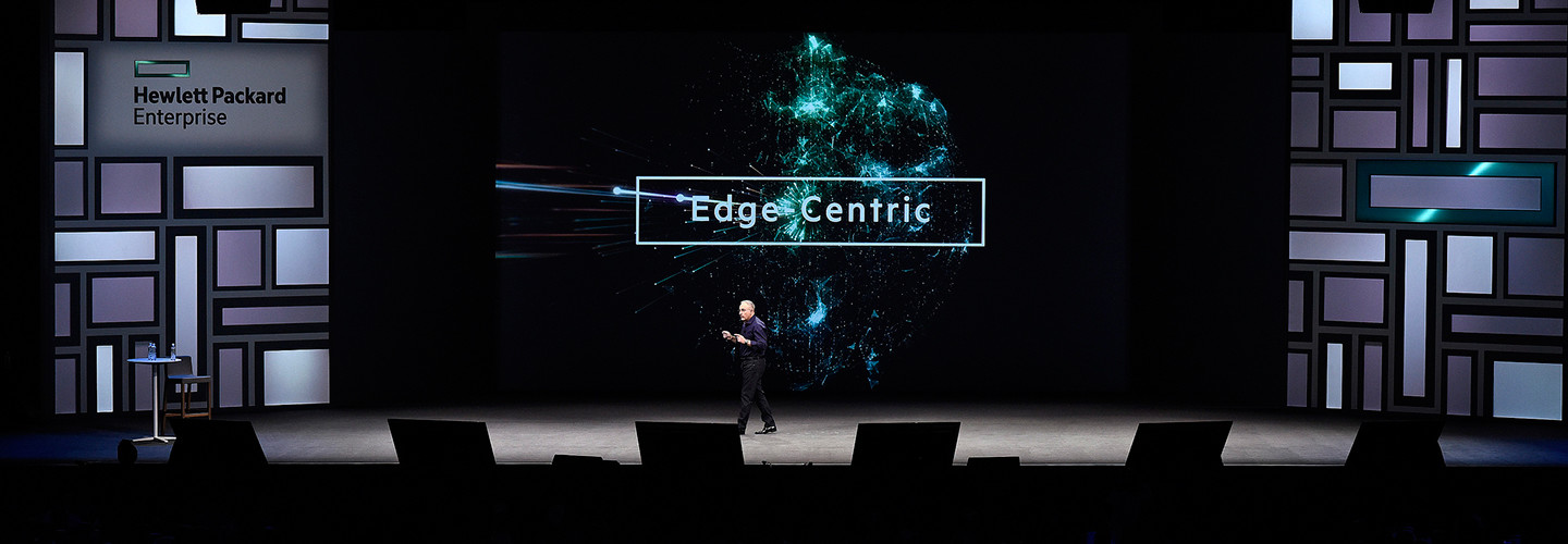 Hewlett Packard Enterprise CEO Antoni Neri speaks at the HPE Discover 2018 conference in Las Vegas.