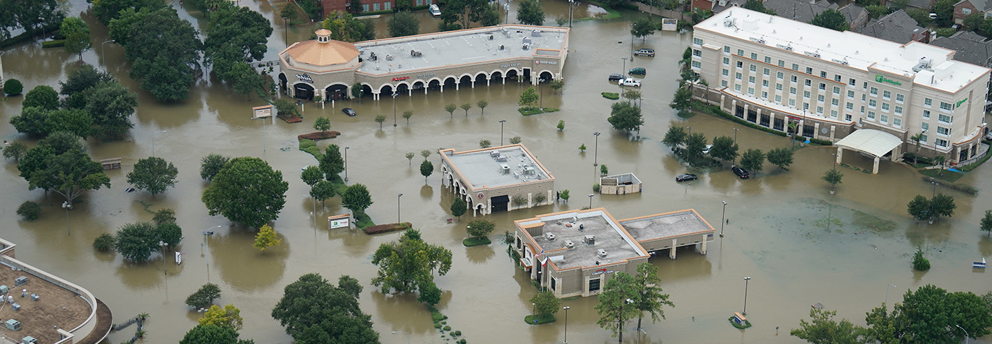 impacts from Hurricane Harvey in 2017 - flooding