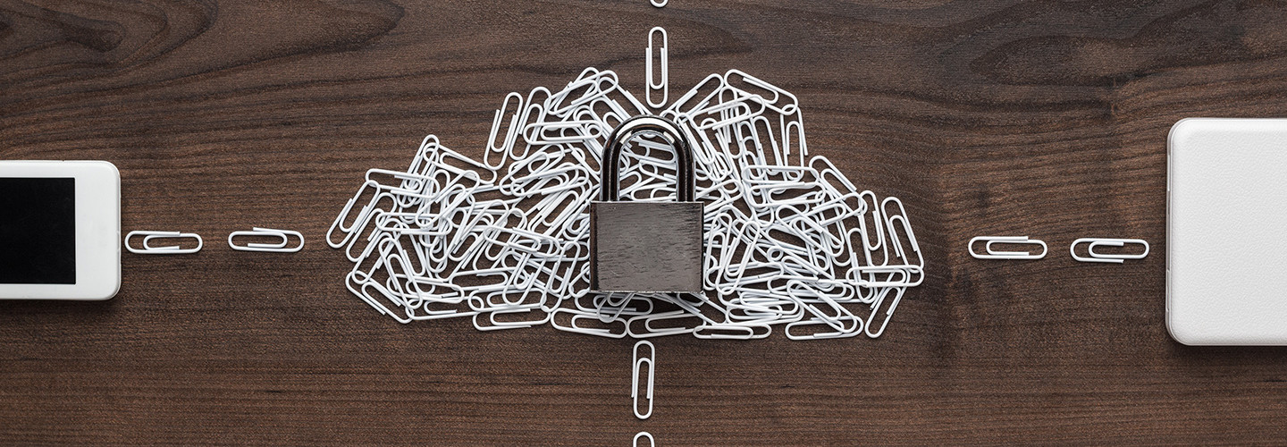 Lock and paper clips