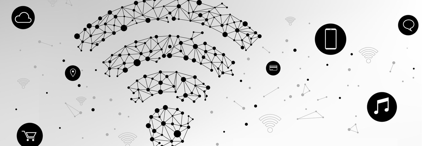 Data network abstract wifi signal
