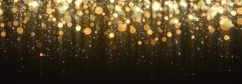 Christmas, Gold, Glitter, Star Shape, Chinese New Year