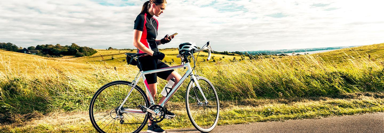 Sporty Cycling woman