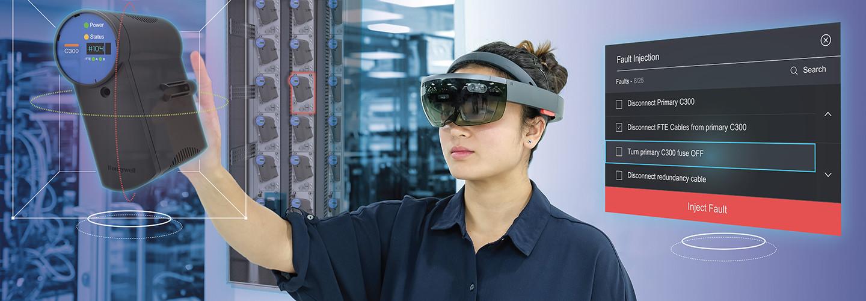 Worker using VR