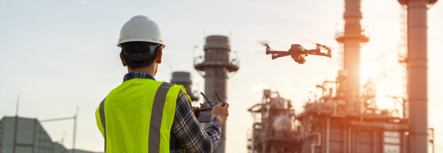 Drones are used by energy and utility companies.