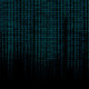 glowing blue binary code matrix background wide banner