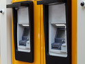 Bank of ATMs secured by video cameras