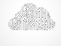 Cloud technology concept on white background