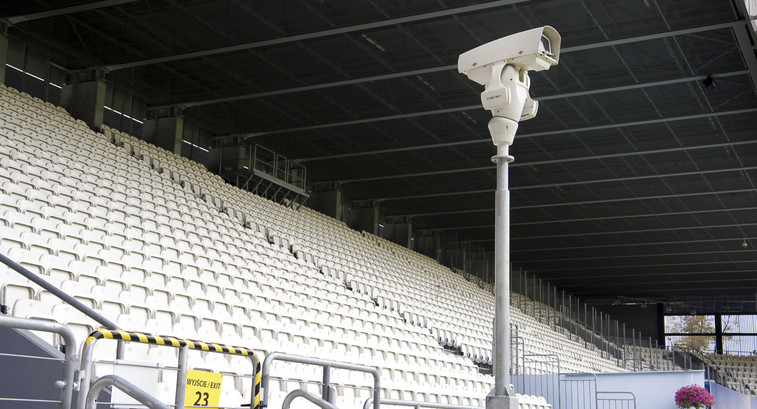 Stadium security camera