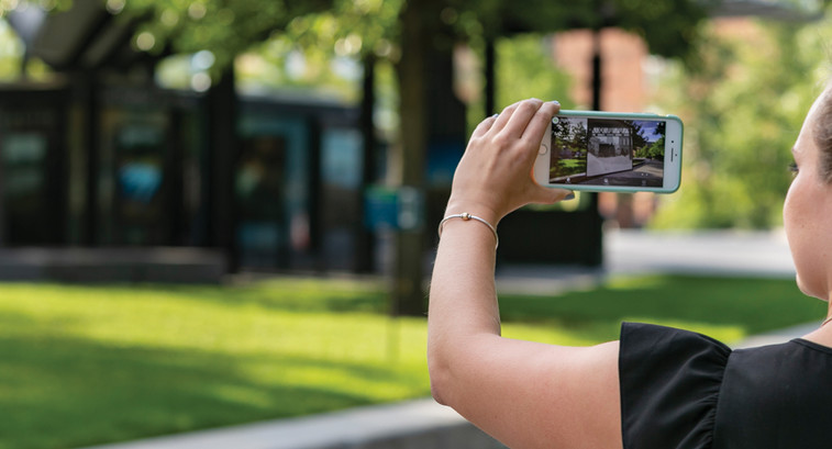 The Rose Fitzgerald Kennedy Greenway in Boston has an augmented reality exhibit running this summer.