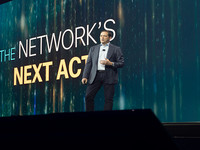 Businesses can reinvent themselves with help from advanced networking, says Cisco CEO Chuck Robbins.