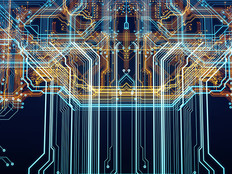 Circuit board cyber abstract image