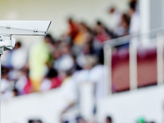 Surveillance camera at a stadium