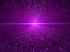 Light Beam, Purple Particle Background