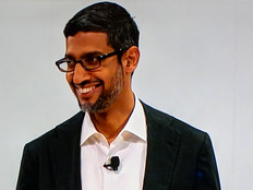 Google CEO Sundar Pichai announces Google's new cloud platform, Anthos