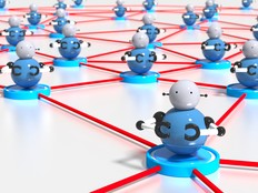 Bots on a network