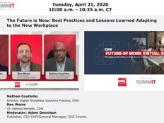 CDW Remote Work Panel with Adam Dennison, Ben Weiss and Nathan Coutinho