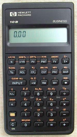 HP 10B Calculator