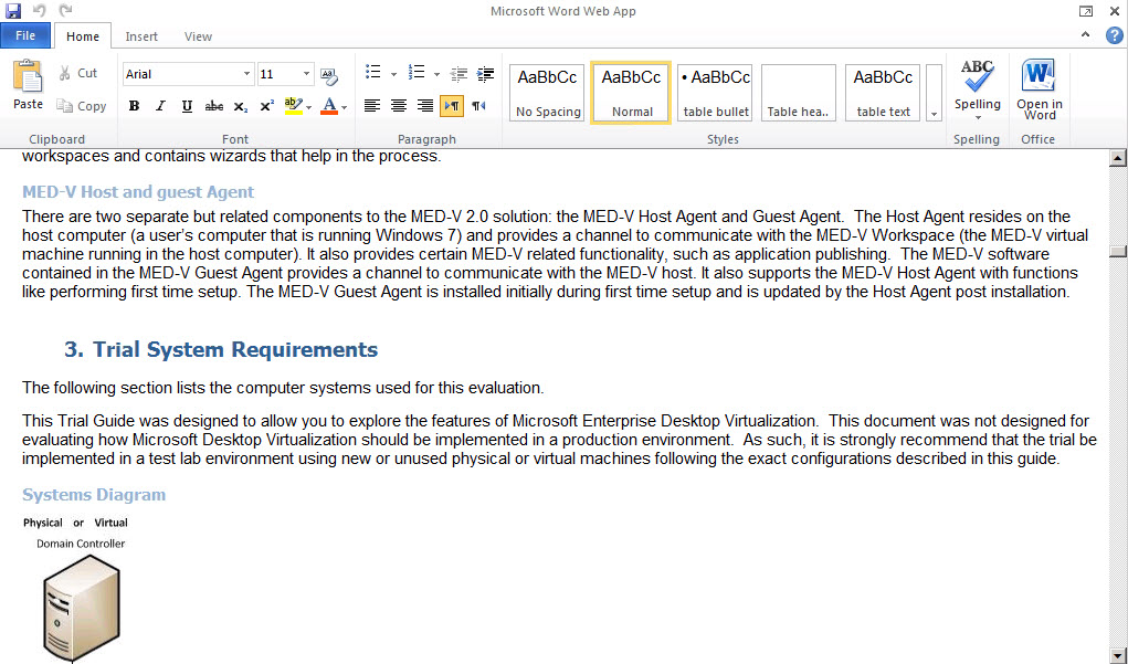 Editing a Word Document in Office 365