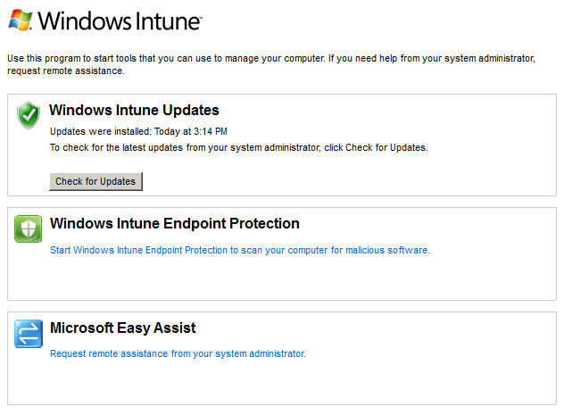 Windows Intune Center