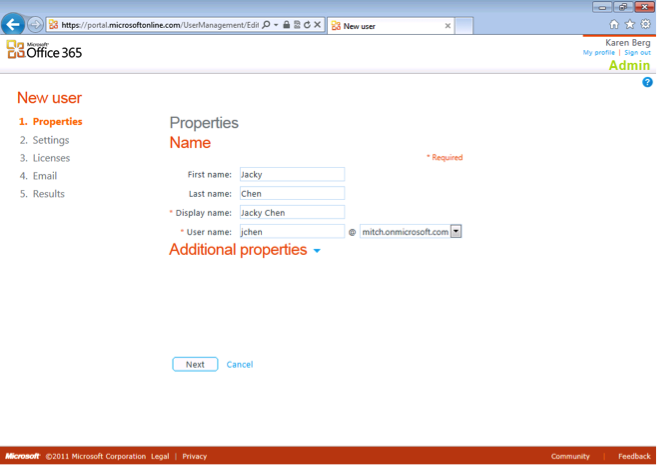 Office 365 new user