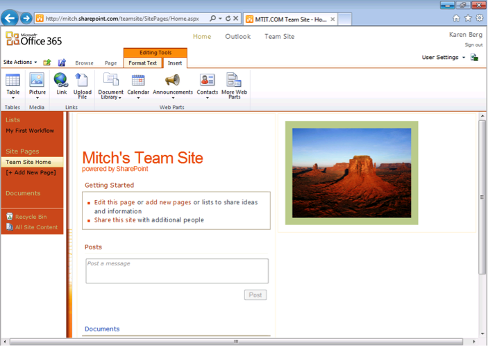 Office 365 Team Site