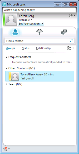 Office 365 instant messaging