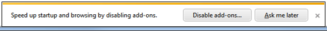 Internet Explorer 9 reminds you to disable add-ons you no longer need.