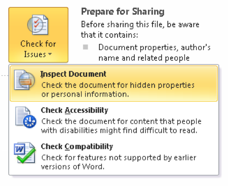 Prepare Microsoft office for sharing