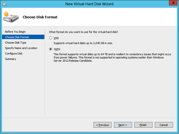 new virtual hard disk wizard
