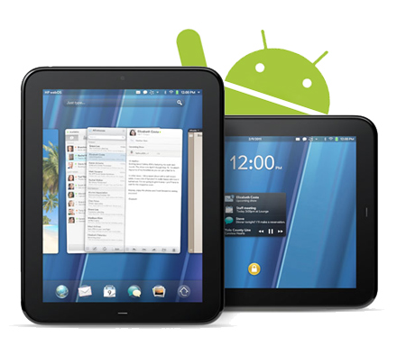 HP TouchPad using Android
