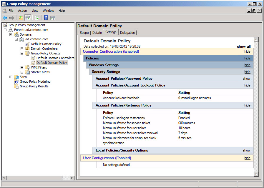 Managing Group Policy settings in the Group Policy Management Console