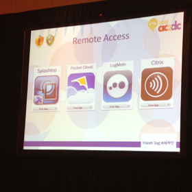 Remote access apps for iPad