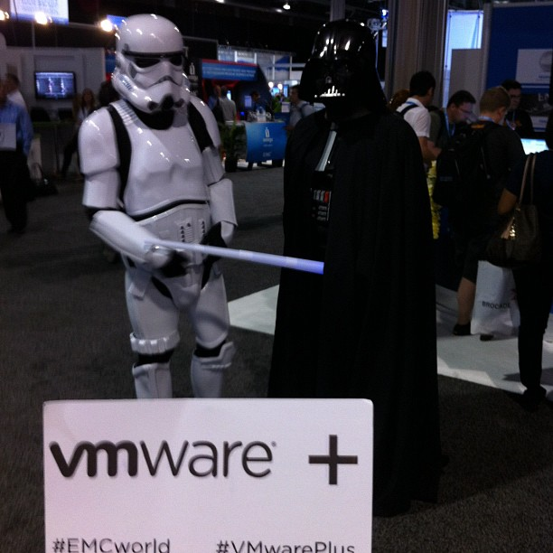 Star Wars figures at EMC World