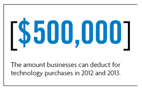 Small business 2013 technology purchase tax deduction