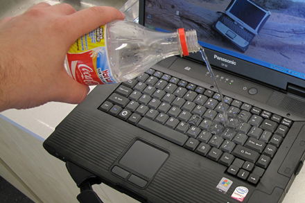 how to clean spilled laptop keyboard