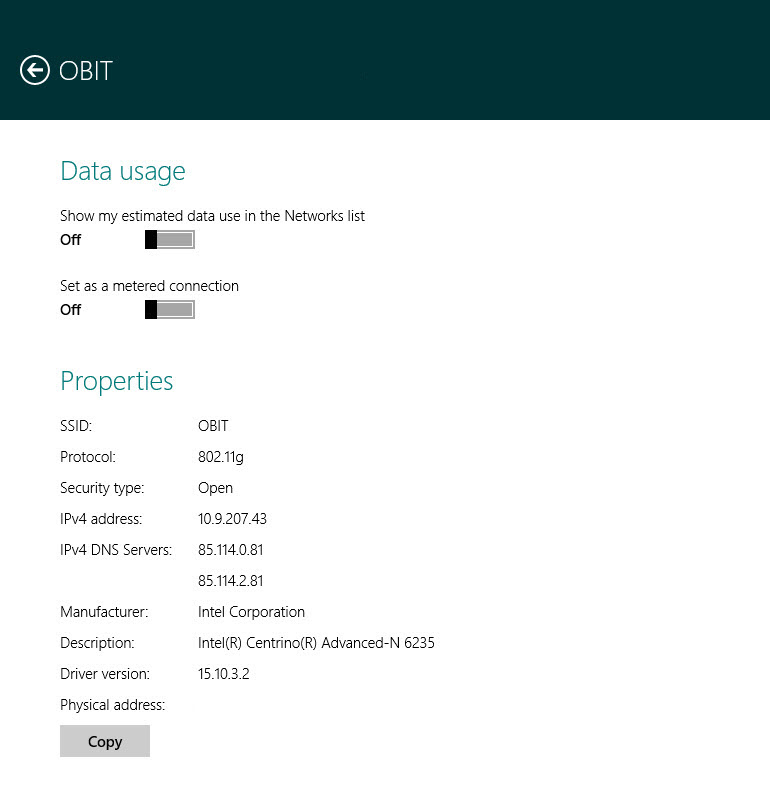 Windows 8 Mobile Estimated Data Usage