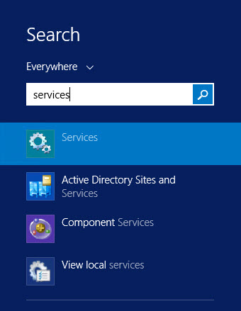 Windows Server 2012 search services