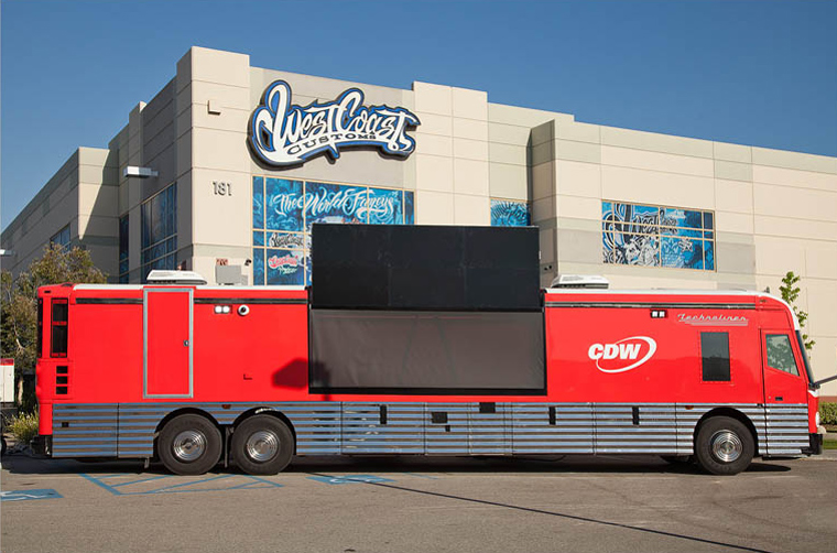 CDW West Coast Customs bus